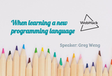 WebHack#34 When Learning a New Language