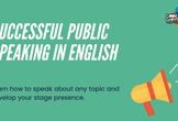 (人前で英語を話すコツ) Successful Public Speaking in English