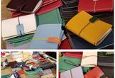 てのひらサイズの革カバー手帳『ochibi』をつくるワークショップ@武蔵野台商店