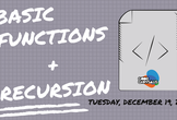 Basic Functions + Recursion (JavaScript Workshop)