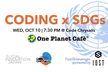 Coding x SDGs Workshop with One Planet Cafe