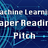 Machine learning papers reading pitch #3
