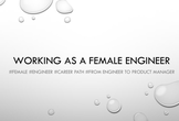 WebHack Meetup # 5 Working as a female engineer